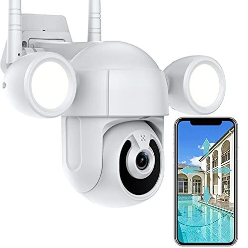 WLAN IP Kamera HD 2MP Scheinwerfer Überwachungskamera Aussen PTZ...