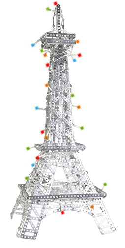 Tronico 10034 - Metallbaukasten Turm mit 50 LED Lichtern, Profi...