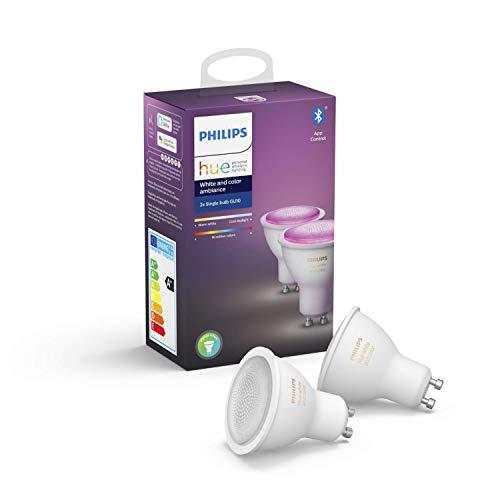 Philips Hue White & Col. Amb. GU10 LED Lampe Doppelpack, dimmbar,...
