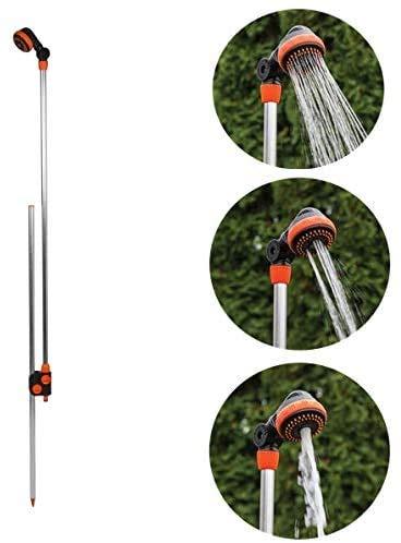 rg-vertrieb Gartendusche Gartenbrause mit Erdspieß Alu 150-210cm...