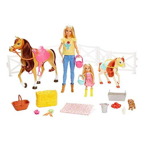 Barbie GLL70 - Reitspaß Spielset mit Barbie (blond), Chelsea,...