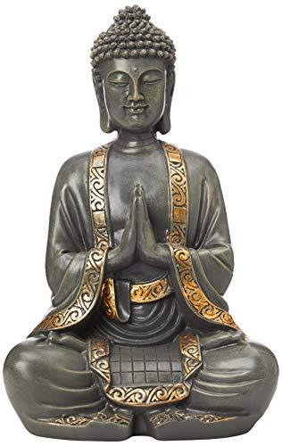 zen' Light Große Statue Buddha Vermittlung, Kunstharz, Bonze, 15...