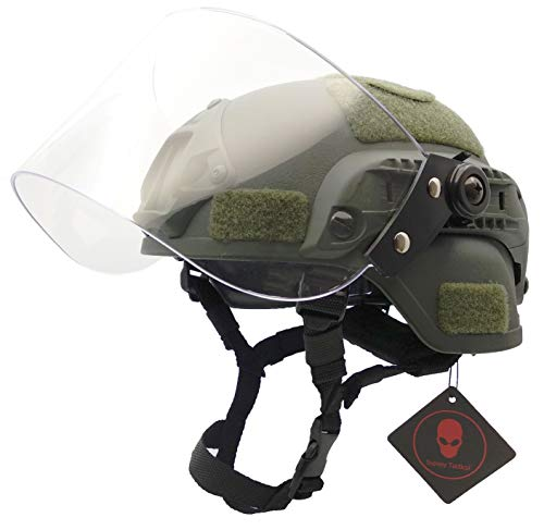 Airsoft Tactical MICH 2000 Military Paintball Army Combat Helm...