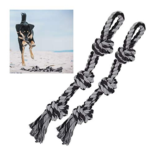 Relaxdays Hundespielzeug Seil, 2er Set, Zerrspielzeug große...