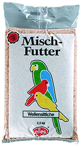 Elles Sittichfutter - Futter für Sittiche/Wellensittiche, 1er...