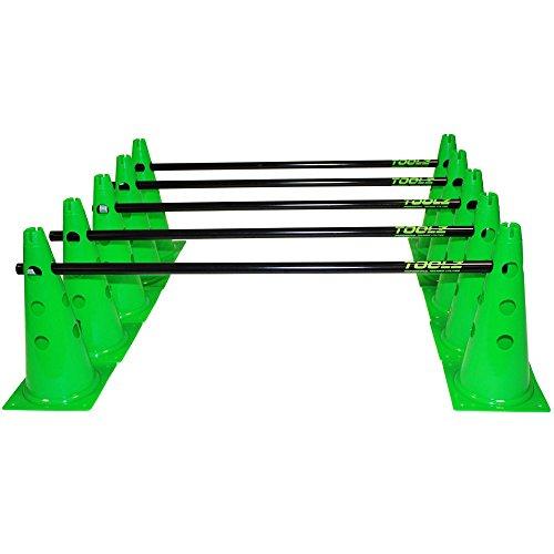 TOOLZ Koordinationsset - 10 Kegel + 5 Stangen - schwarz/grün -...