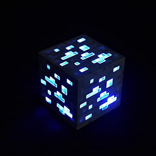 KPTKP Mine & Craft Stone Ore Cube Diamond, LED Stimmungslicht,...