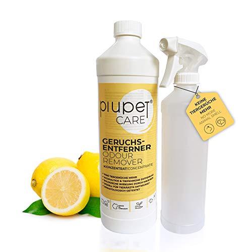 PiuPet® Geruchsentferner Konzentrat für Katzen und Hunde - Effektiver Geruchskiller -...