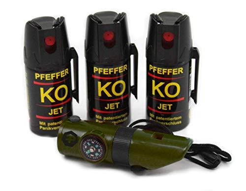 BALLISTOL Verteidigungsspray Pfeffer KO Jet 3 Dosen mit je 40 ml...