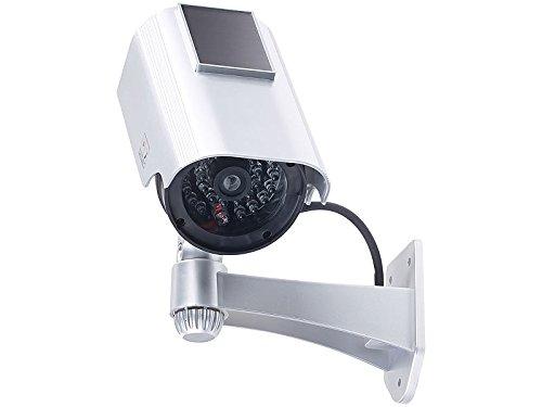 VisorTech Kamera Attrappe: Überwachungskamera-Attrappe mit...