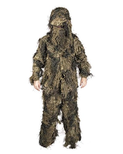 Mil-Tec Ghillie Suit Anti Fire 4PC. Basic woodl Gr.M/L