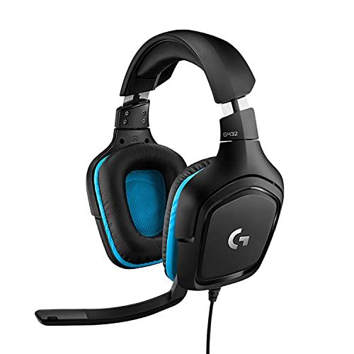 Logitech G432 kabelgebundenes Gaming-Headset, 7.1 Surround Sound,...