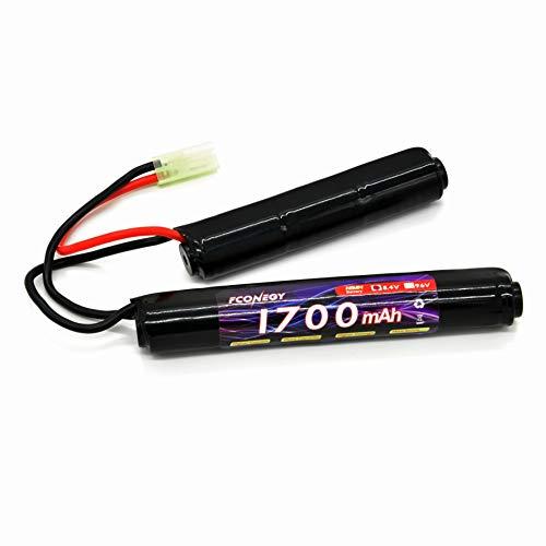 FCONEGY Softair Akku 8,4V 1700mAh Nunchuck Pack NiMH Batterie...