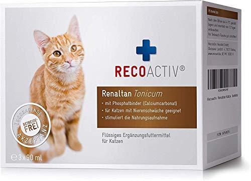 RECOACTIV Renaltan Tonicum für Katzen, 3 x 90 ml,...