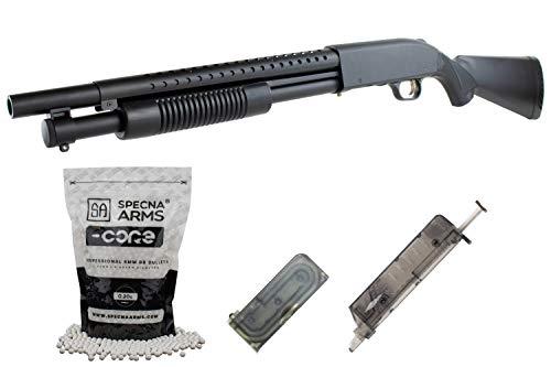 E Tac Softair Pumpgun Shotgun Metall Modell M500