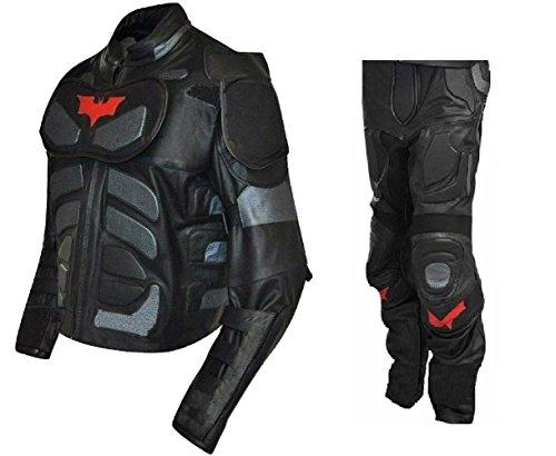 Echt Leder Herren 's Fashion Dark Knight Kostüm Batman Anzug,...