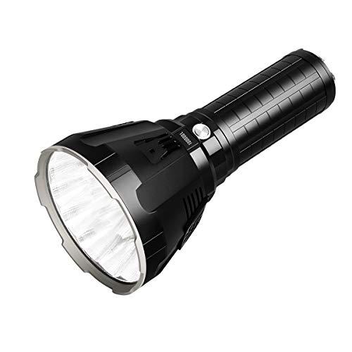 IMALENT MS18 Taschenlampe LED 100.000 Lumen, 18 Stück Cree LEDs...