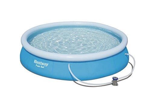 Bestway Fast Set Pool, rund,mit Kartuschenfilterpumpe, blau, 366...