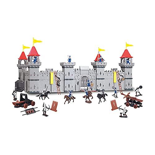 Coole, große Ritterburg mit Spielfiguren Königreich Burg...