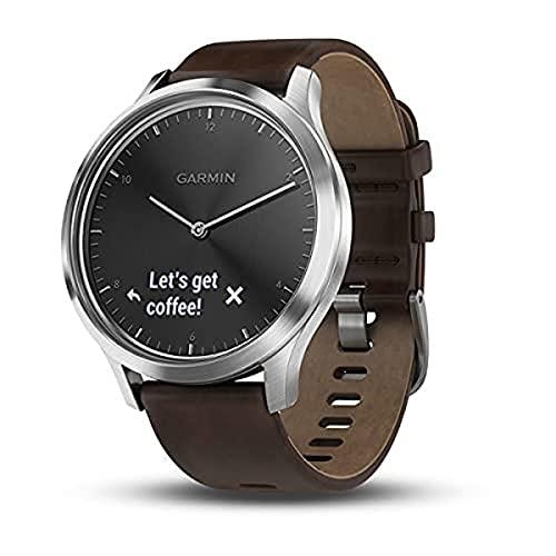 Garmin Herren HR Premium Smartwatch Vivomove, Silber, Sin...