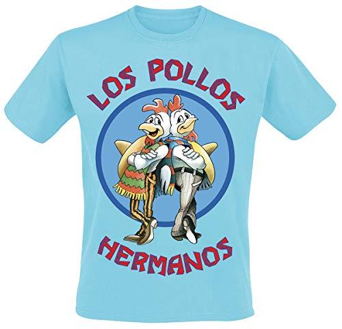 Breaking Bad Los Pollos Hermanos Männer T-Shirt hellblau L 100%...