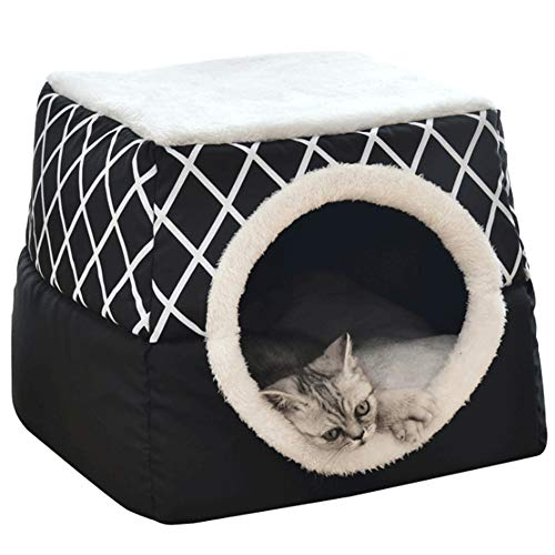 llasm Haustierbett Katzenschlafplatz Flauschiges Hundebett...