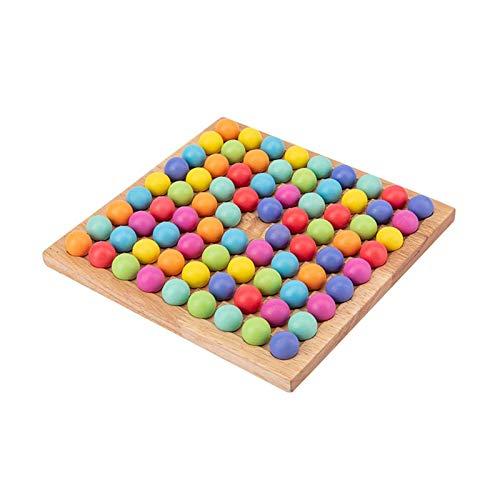 MMUK Holz Brettspiel Spiel Spielzeug, Holz Spielbrett mit 80...