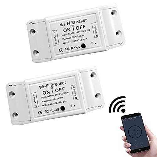 Intelligenter WLAN Lichtschalter, 10A WLAN 2.4G...