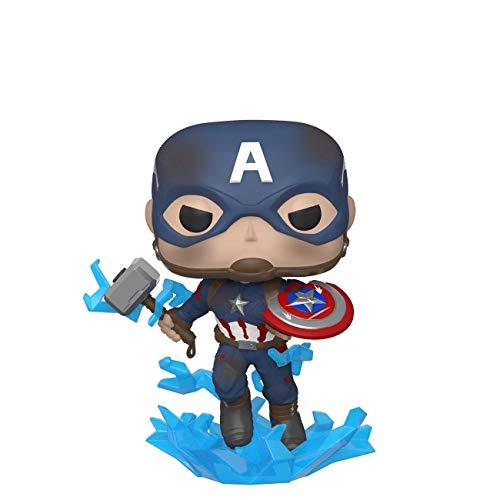 Funko 45137 POP Marvel: Endgame- Captain America w/BrokenShield & Mjolnir Capt A...