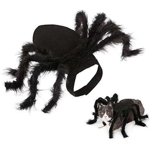 Lifreer Halloween-Spinnen-Kostüme für Hunde und Haustiere,...
