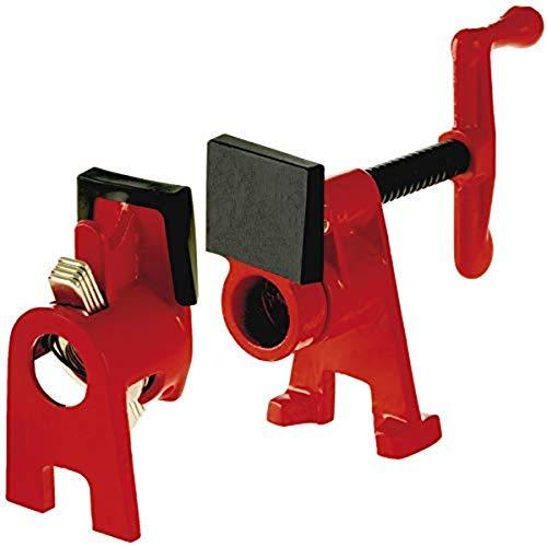 Bessey Rohr-Schraubzwinge (Spannweite frei wählbar, mit Standfuß, für Holz und Stahl; für...