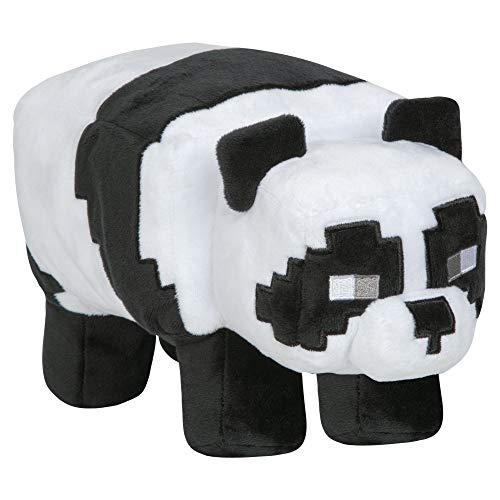 Jinx 9293 Minecraft Adventure Panda Plüsch, 26 cm, schwarz-weiß