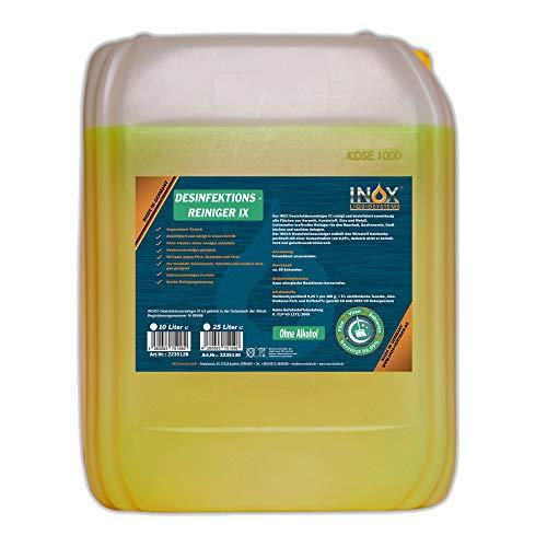 INOX® Desinfektionsreiniger, 10L - Hygiene Reiniger Desinfektionsmittel Oberflächen und...