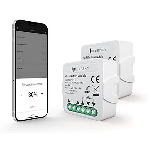 WiFi Rolladenschalter mit Prozentfunktion, Etersky Smart Rolladen...