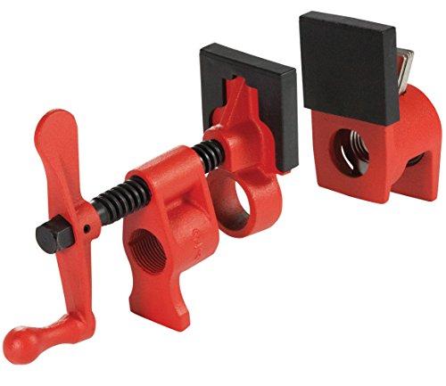 Bessey PC34-2 Rohrschelle 1,9 cm mit 2 3/8 Zoll Halstiefe, Rot