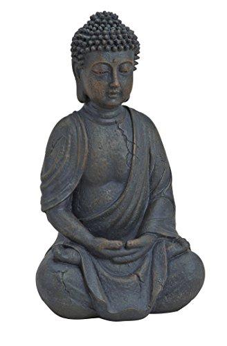 Buddha-Figur sitzend, betend 25cm in Braun   Deko-Artikel für...