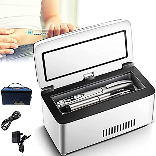 XYEJL Mini Kühlschrank Tragbare Insulin Kühlbox,Smart LCD...