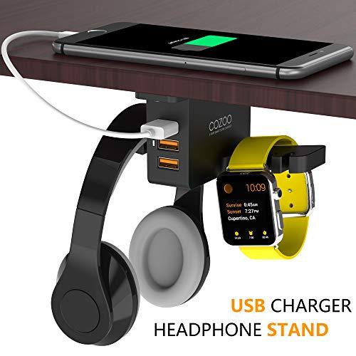 Kopfhörerständer mit USB-Ladegerät COZOO Under Desk...