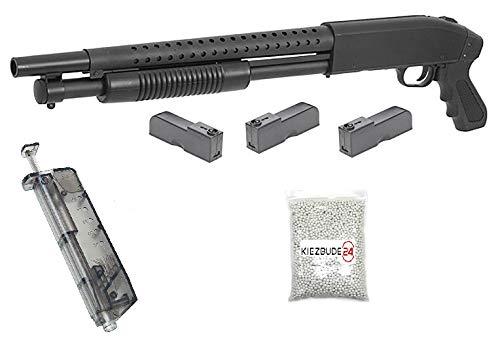 KS-11 Klassische Airsoft Schrotflinte, schwarz - Länge 670mm - Kaliber 6mm -