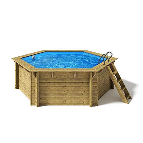 Paradies Pool® Holzpool Lani Einzelbecken inkl. Zubehör,...