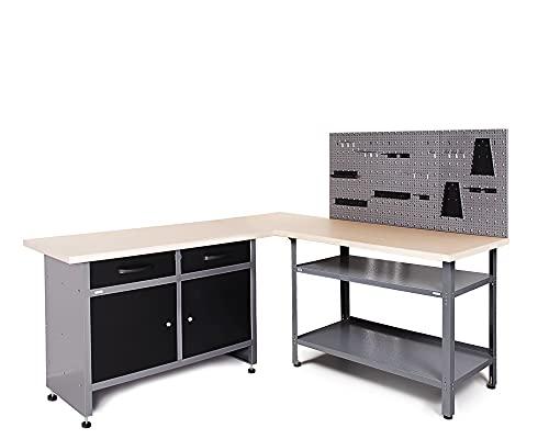 Ondis24 Werkstatt-Set Ecklösung Sparfuchs Basic Plus 180 x 180 x...