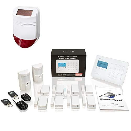 Safe2Home® Funk Alarmanlagen Set SP110 Sabotageschutz Solar...