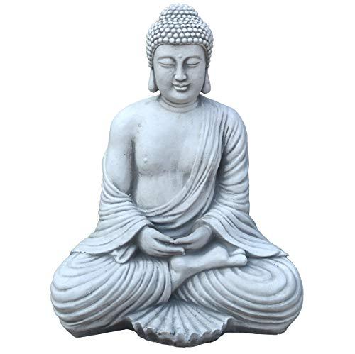 gartendekoparadies.de Massive Steinfigur Buddha Statue aus...