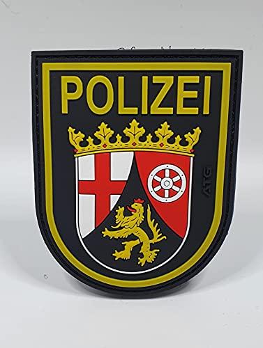 ATG Ärmelabzeichen Polizei Rheinland-Pfalz 3 D Rubber Patch...