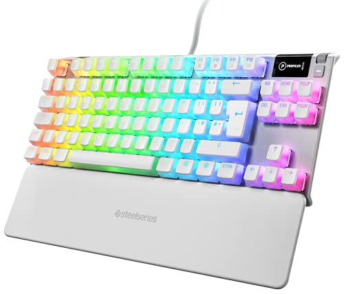 SteelSeries Apex 7 TKL Ghost - mechanische Gaming-Tastatur - OLED...