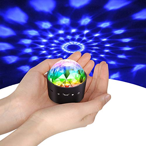 Mini Discokugel Licht,YIKANWEN Stimme Steuerung Disco Party...