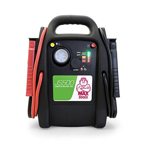 MAXTOOLS, JS500, Batterienotstarter für Autos und Transporter, 2200A 22Ah, für Dieselmotoren...