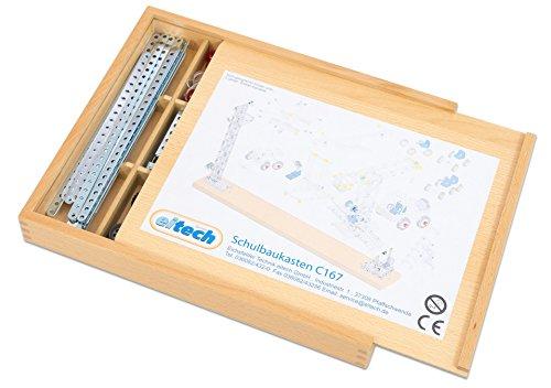 eitech - Metallbaukasten über 527 Teile in einer Holzbox, inkl....