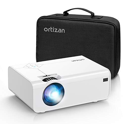 Ortizan Mini Beamer, Tragbarer Heimkino Beamer mit 1080P Full HD,...