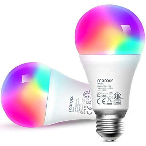 Smart WLAN Glühbirne, Meross intelligente Lampe Dimmbare...